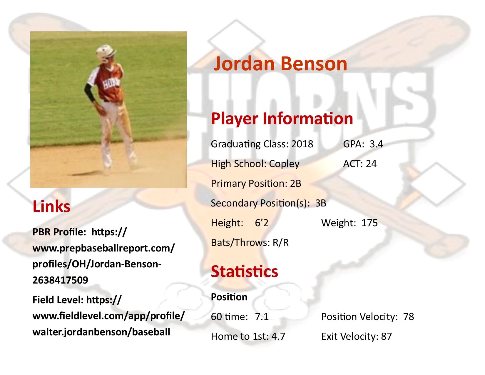 Jordan Benson